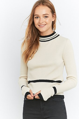 urban-outfitters-mock-neck-ivory-striped-ski-jumper-womens-xs