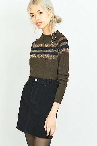 urban-outfitters-placement-striped-khaki-mock-neck-jumper-womens-m