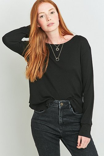 truly-madly-deeply-long-sleeve-black-waffle-top-womens-s