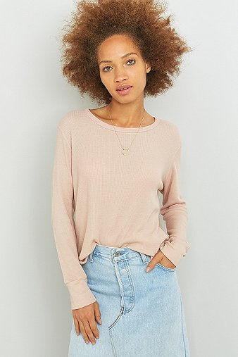 truly-madly-deeply-long-sleeve-nude-waffle-top-womens-m