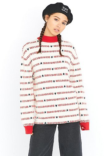 made-me-x-girl-skate-ravers-white-turtleneck-jumper-womens-m
