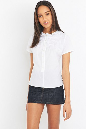 sonia-by-sonia-rykiel-white-frill-short-sleeve-shirt-womens-34