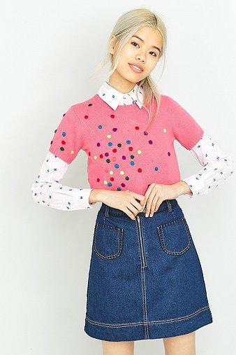 manoush-maille-polka-dot-pink-top-womens-38