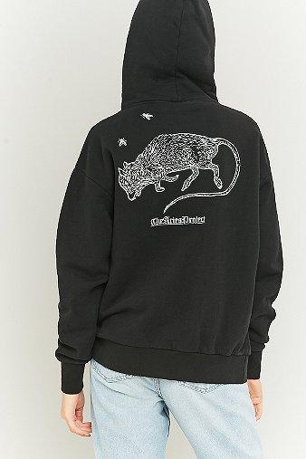 aries-rat-print-black-hoodie-womens-m