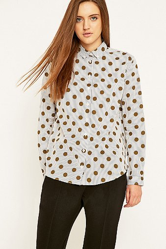 libertine-libertine-bando-white-polka-dot-shirt-womens-xs