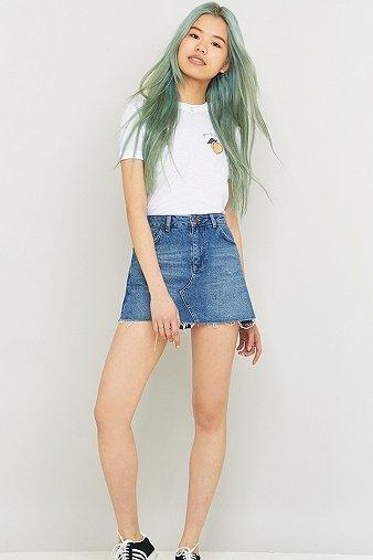 bdg-five-pocket-skater-denim-indigo-mini-skirt-womens-l