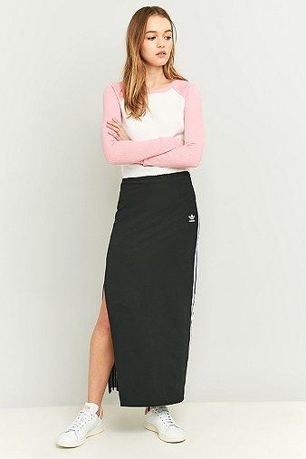 adidas-originals-3-stripe-black-maxi-skirt-womens-s