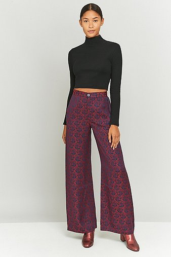 rodebjer-sini-maroon-floral-jacquard-trousers-womens-m