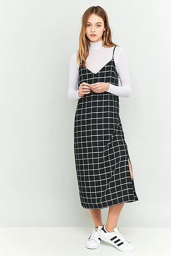 urban-outfitters-black-checked-midi-slip-dress-womens-s