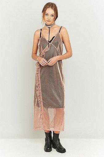 pins-needles-pink-shimmer-ruffle-midi-dress-womens-s