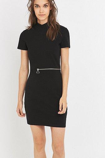 cheap-monday-ace-black-zip-mini-dress-womens-s