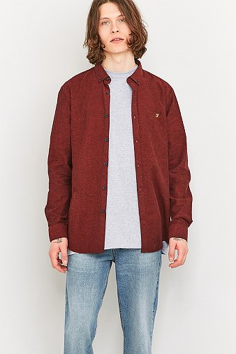 Farah Steen Bordeaux Shirt - Mens S