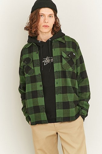 dickies-sacramento-pine-green-check-shirt-mens-m
