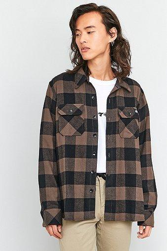 dickies-sacramento-gravel-check-shirt-mens-m
