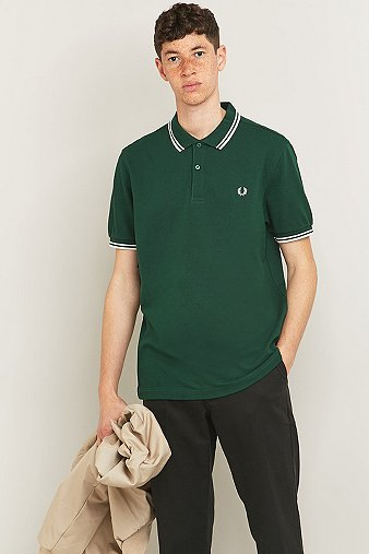 Fred Perry Twin Tip Ivy Polo Shirt Green
