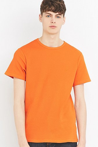 farah-mabley-washed-orange-textured-t-shirt-mens-m