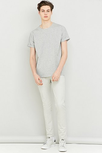 selected-homme-pole-light-grey-melange-short-sleeve-o-neck-t-shirt-mens-xl