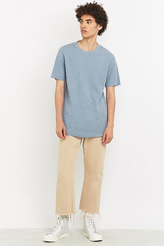 commodity-stock-blue-marl-short-sleeve-waffle-t-shirt-mens-m