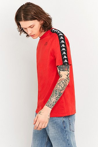 kappa-coen-red-taped-t-shirt-mens-m