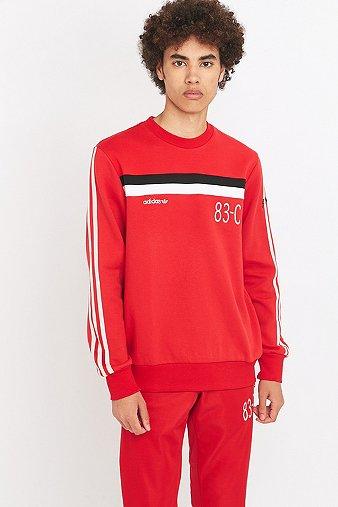 adidas 83-C Scarlett Crewneck Sweatshirt, Red