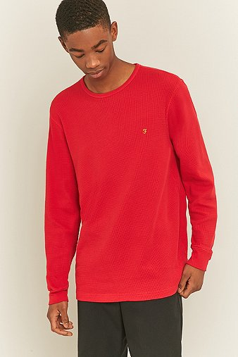 farah-wyley-soft-red-long-sleeve-t-shirt-mens-m