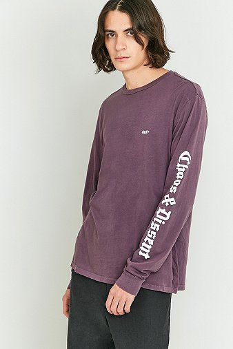 obey-propaganda-chaos-dissent-purple-long-sleeve-t-shirt-mens-m