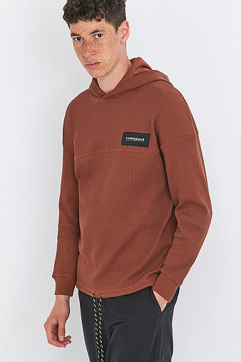 rascals-honeycomb-dark-brown-logo-hoodie-mens-m
