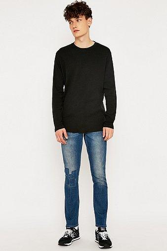 commodity-stock-black-waffle-long-sleeve-t-shirt-mens-m