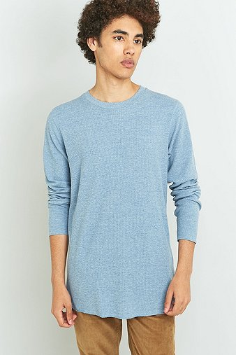 commodity-stock-long-sleeve-blue-marl-waffle-t-shirt-mens-m