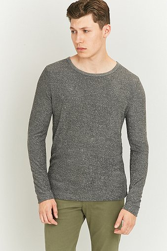 selected-homme-dhaka-grey-long-sleeve-o-neck-jumper-mens-l