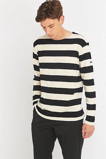 armor-lux-fairtrade-black-striped-grunge-jumper-mens-xl