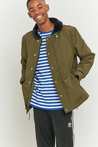 penfield-ashwood-olive-faux-shearling-collar-jacket-mens-m