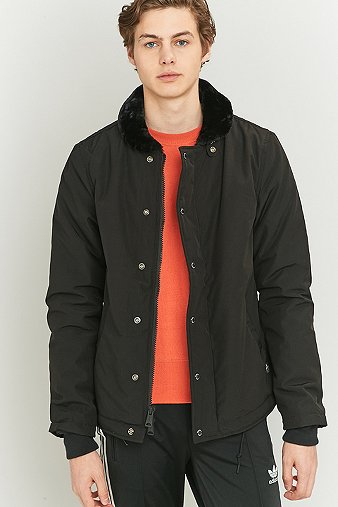 penfield-ashwood-black-faux-shearling-collar-jacket-mens-m