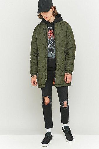 loom-otis-longline-quilted-olive-bomber-jacket-mens-l