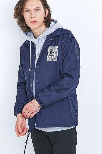 obey-rose-grid-navy-coach-jacket-mens-l