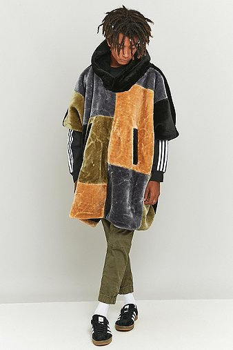 the-new-county-camel-olive-patchwork-poncho-mens-m