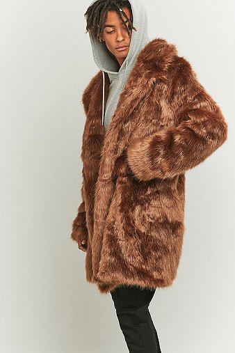 the-new-county-brown-faux-fur-long-coat-mens-s