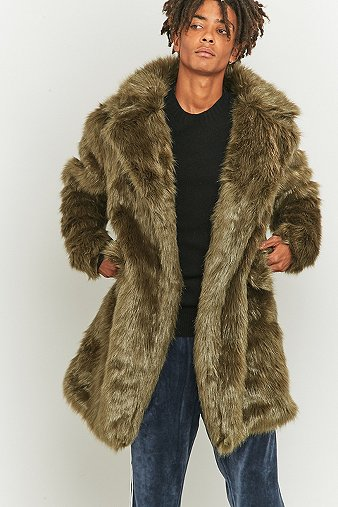 the-new-county-olive-faux-fur-long-coat-mens-m