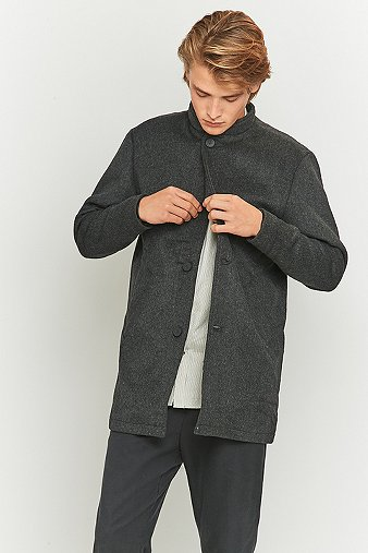 native-north-grey-mandarin-collar-trench-coat-mens-l