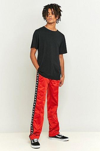 Kappa Astoria Red Taped Tracksuit Bottoms - Mens L