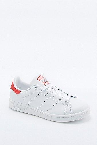 Image du produit adidas Originals - Baskets Stan Smith blanches et rouges - Femme 36.5