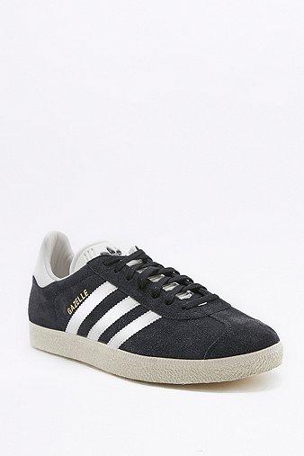 adidas Originals Gazelle Black Suede Trainers Black