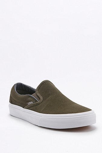 vans-classic-perforated-khaki-suede-slip-on-trainers-womens-5