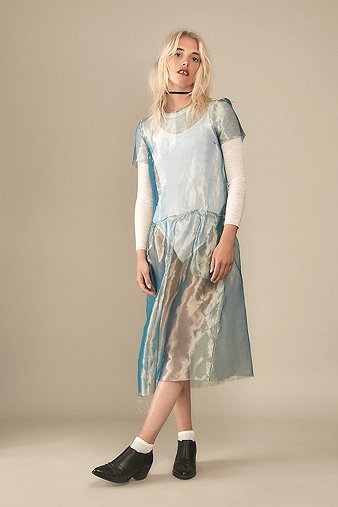 rework-by-urban-outfitters-turquoise-organza-shell-midi-dress-womens-sm