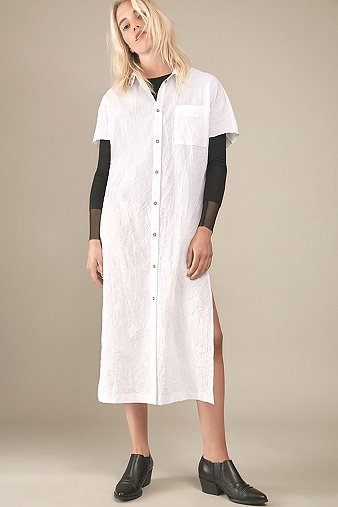 rework-by-urban-outfitters-longline-white-shirt-dress-womens-s