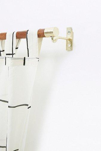 mid-century-modern-wooden-curtain-rod