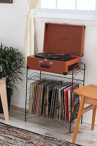 black-record-stand