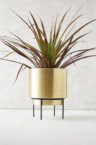 Image of Adelphi Metal Planter, Gold