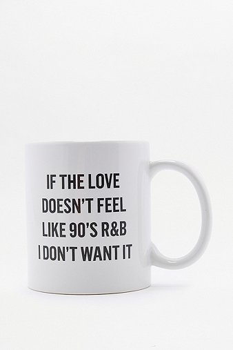 Image of 90's R&B Mug, White