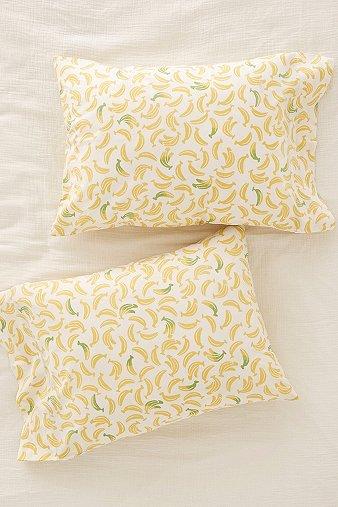 Image of Banana Pillowcase Set, Yellow